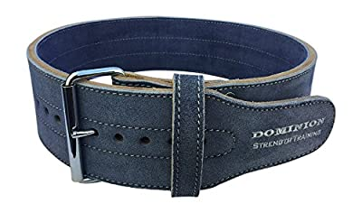Leather Weightlifting Belt 4 Inch for Men and Women - 10 mm Thick
