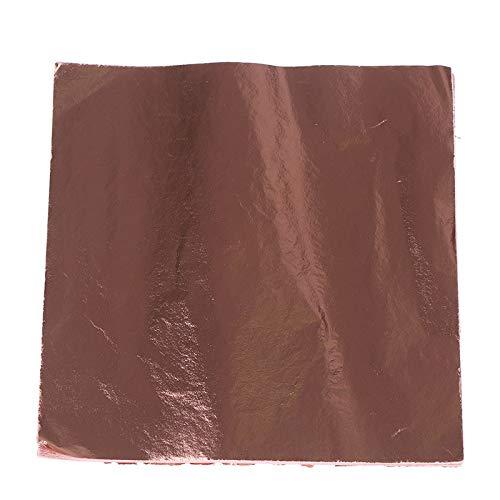Craft Paper - 100pcs Art Foil Craft Paper Imitation Gold Sliver Copper Leaf Leaves Sheet Decoration 14cmx14cm - Colored Tags Black Dolls Edge Hearts Nautical Cards Animals Mask Weight Craf ()