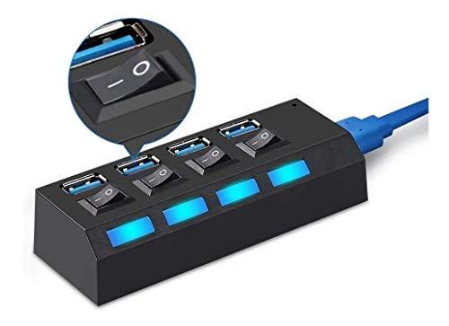 HUB USB 4 Portas 2.0 Adaptador e Expansor Pen Drive Tv Mouse Teclado