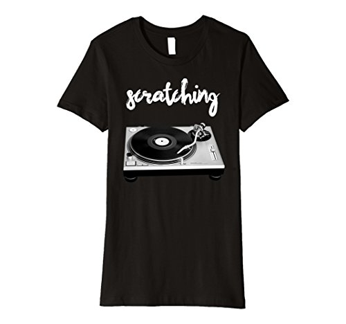 Womens Old School Hip Hop Streaming Mix Tape Vinyl T-Shir...