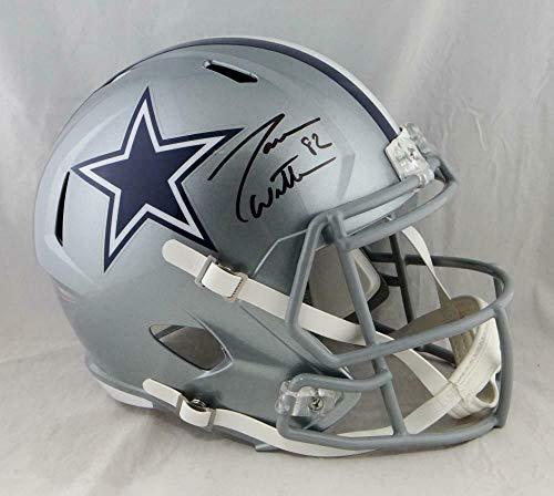 (Jason Witten Signed Helmet - Full Size Speed W Auth *Blk - JSA Certified - Autographed NFL Helmets)