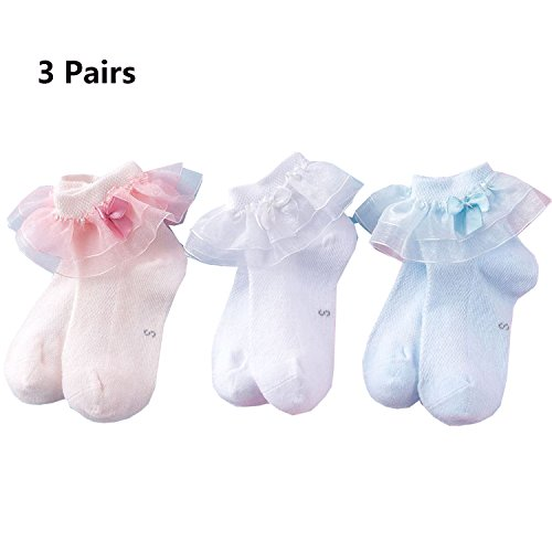 New Lovely Ruffle Lace Cotton Baby Girls Socks(0M-7Y) by CoCoUSM