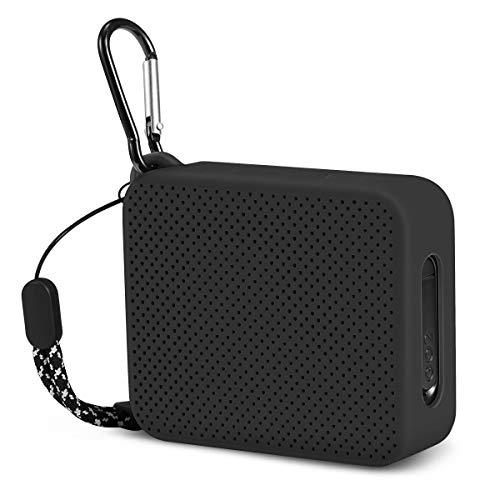 Silicone Dust-Proof Carrying Case for Bose Speaker with Metal Clip Aotnex Portable Case for Bose SoundLink Color Speaker II Black