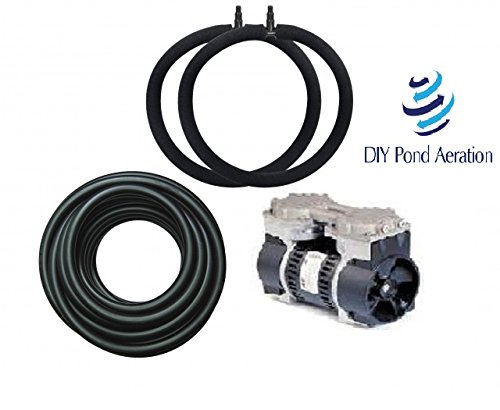 Diypondpro 1/3 Hp Rocking Piston 100' Pond Aerator Kit