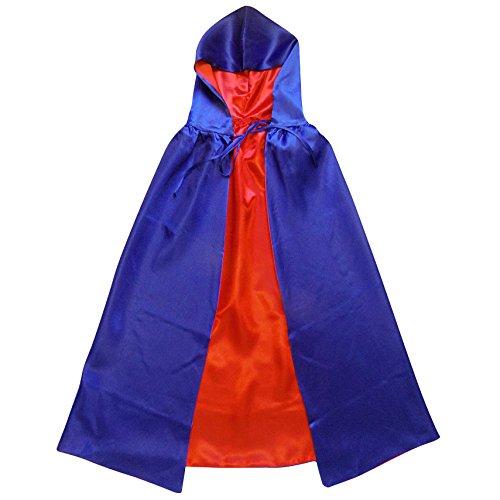 Superhero or Princess Reversible Hooded Cape Kids Adult