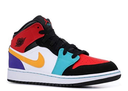 Air Jordan 1 Mid (Gs) - 554725-125 - Size - Air Sneakers Authentic Jordan