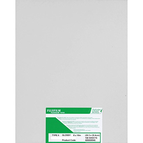Fujifilm Fujicolor Crystal Archive Super Type-II Color Enlarging Paper - 8x10'' - 100 Sheets - Glossy Surface. by Fuji