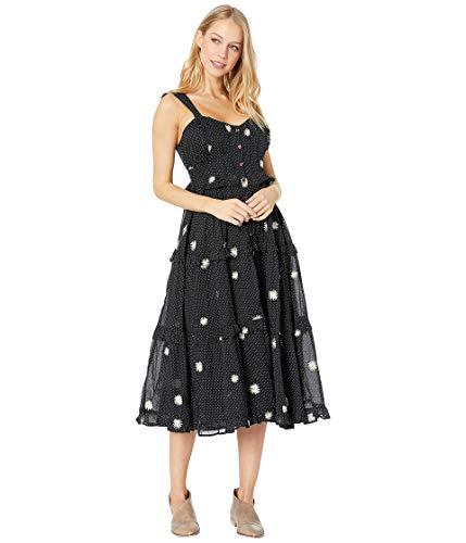 Free People Women's Daisy Chain Midi Dress, Black Combo, Medium ()