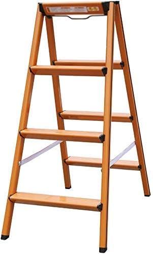 Fácil y multifunción Conveniente Taburete plegable, escalera Taburete Escalera doméstica Aleación de aluminio Escalera de 4 escalones Escalera pequeña Espesar taburetes Taburete de almacenamiento Taburete alto, negro, 4 peldaños: Amazon.es: Hogar
