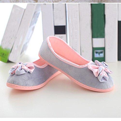 Ama (tm) Femmes Enceintes Maison Pantoufles Dintérieur Chaussures Dhiver Chaussures De Yoga Chaud Gris