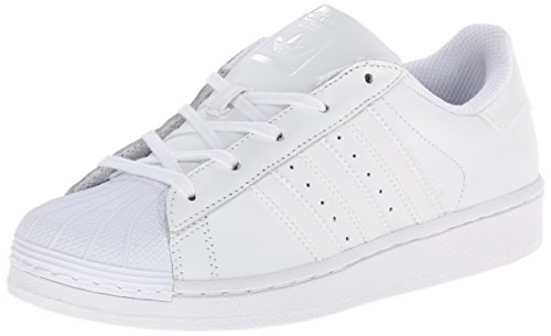 adidas Originals Kids' Superstr Foundation, White/White/White, 11K M US Little - Mesh Sneakers Leather