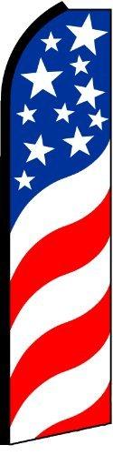PATRIOTIC SWIRLS X-Large Swooper Feather Flag