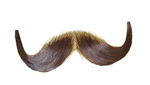 2013 (Light Brown) Human Hair Mustache Handlebar ()