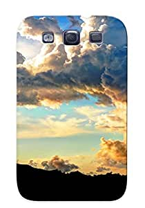Awesome Vbqtii-2242-foazjgj Gregorymalone Defender Tpu Hard Case Cover For Galaxy S3- Sunset Clouds Skyscapes