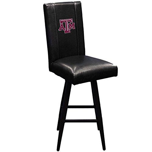XZipit College Bar Stool Swivel 2000 with Texas A & M Aggies Logo Panel, Black