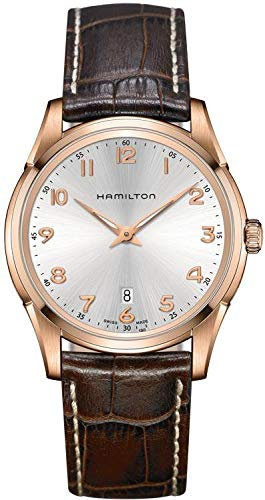 Hamilton Jazzmaster Thinline Silver Dial SS Leather Quartz Men's Watch H38541513