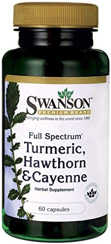 Swanson Full Spectrum Turmeric Hawthorn Cayenne 60 Capsules