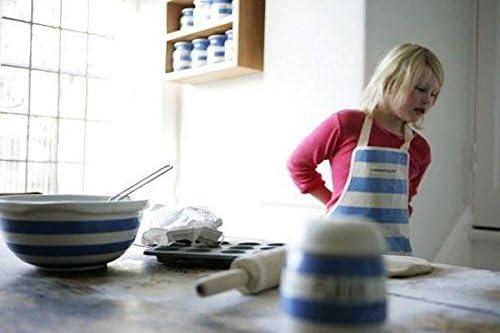 Cornishware blu e bianco a righe set di 2/tazze e piattini da colazione