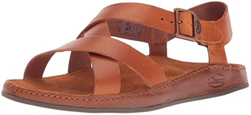 (Chaco Women's Wayfarer Sandal, Rust, 8 Medium US)