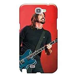 Protector Hard Phone Case For Samsung Galaxy Note 2 (Cju17517xhHF) Customized Colorful Foo Fighters Band Image