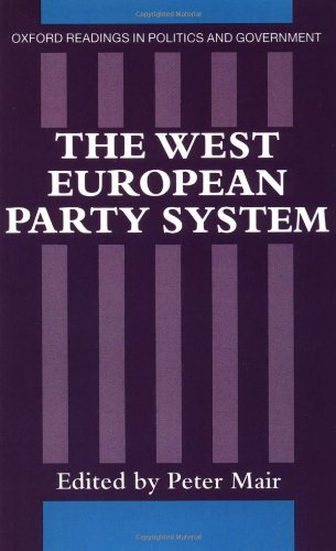 By Peter Mair - The West European Party System: 1st (first) - Party European System