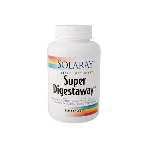 Solaray Super Digestaway Capsules, 180 Count