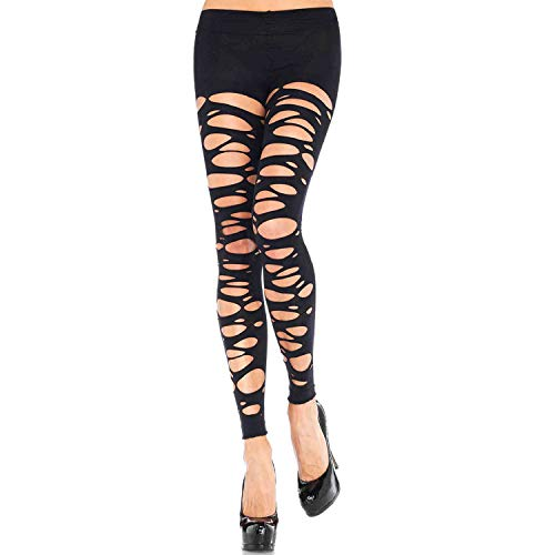 Leg Avenue Womens Tattered Footless Tights]()