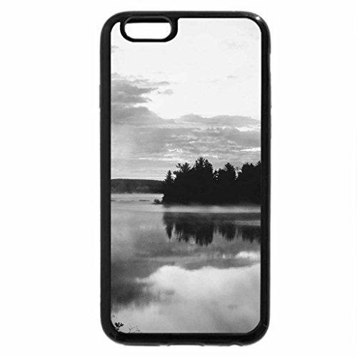 iPhone 6S Plus Case, iPhone 6 Plus Case (Black & White) - beautiful misty sunrise
