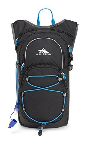 High Sierra HydraHike 8L Hydration Pack, Black/Slate/Pool [並行輸入品] B07DVXR8X6