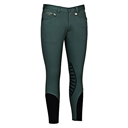 - George H Morris GHM Mens Rider Knee Patch Breech 32 Duck Green