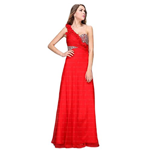 Ball Ital Maxi Rot Festamo Design Damen Kleid Für n7gw7EZrx