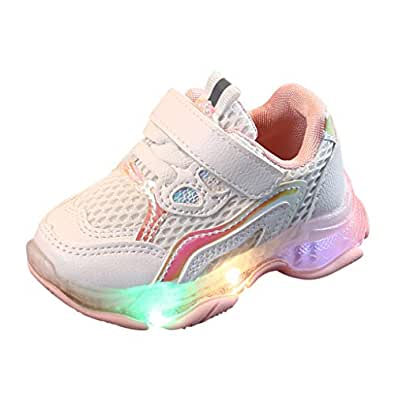 Natarura Toddler's Leisure Outdoors Casual Shoes Fashion Breathable Children's Mesh Sneaker Shoes for Girls Boys Party Pink