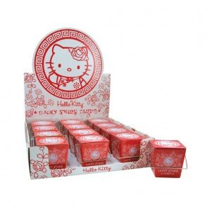 Kitty Stars Lucky Hello (Hello Kitty Lucky Star Candy Take - Out Tin (Pack of 12))