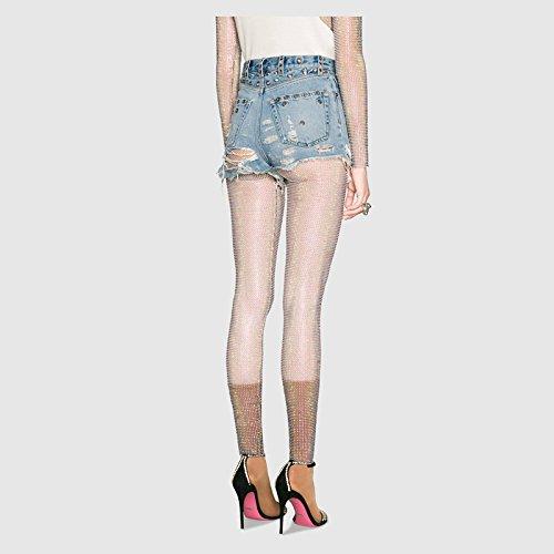 Chic Dchir Rtro Taille Trou Sexy Court Femme Oudan Haute Shorts Bleu Jeans Ux0TtY0qw
