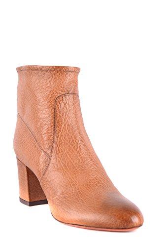 Santoni Women's MCBI267044O Brown Leather Ankle Boots XST412Yb