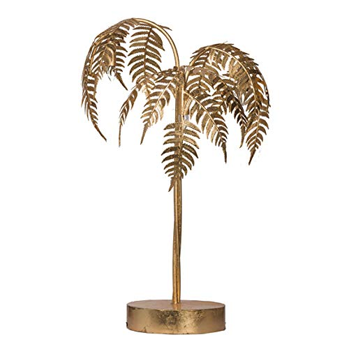 Loui Michel Cie Modern Chic Gold Fern Leaf Table Lamp ()
