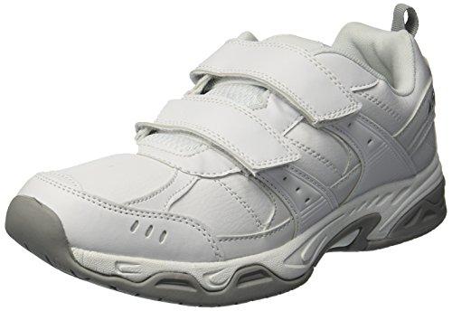 Avia Men's Avi-Union II Strap Food Service Shoe, White/Chrome Silver, 12 Medium US