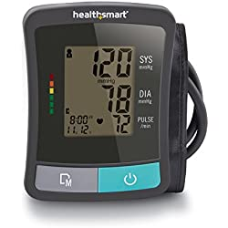 HealthSmart Standard Series Upper Arm Blood Pressure Monitor, Clinically Accurate Digital Blood Pressure Monitor, Automatic Electronic Blood Pressure Monitor with LCD Display and 2 Person Memory