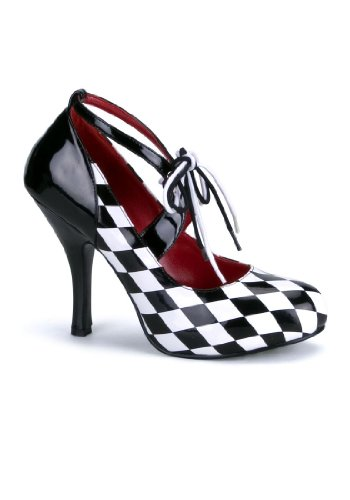 Funtasma Women's Harlequin-03/BW Pump, Black/White Black/White Diamond Print,11 M US (2)