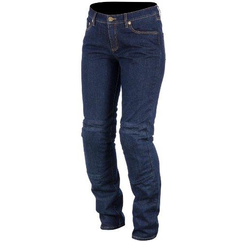 Alpinestars Kerry Tech Women's Denim Road Race Motorcycle Pants - Indigo Blue/Size ()