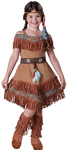Maiden Indian Costume (InCharacter Costumes Girl's Indian Maiden Costume, Tan, 10)