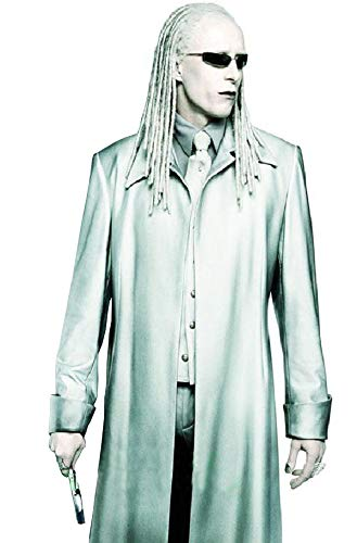 Matrix Reloaded Adrian Rayment (Twins) Costume Coat Off-White -