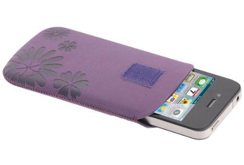 Cellular Line Universal Schutzhülle mit Herausziehilfe für Apple iPhone 4/4S (Display-Reinigendes Innenfutter) lila