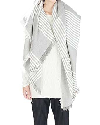 Zando Plaid Blanket Scarf Large Tartan Cape Shawl Soft