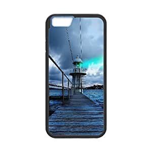 Iphone 6 Case Lighthouse At Dawn by Leemarson for Black Iphone 6 (4.7)inch Screen lmar608889