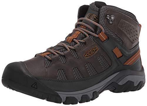 (KEEN Men's Targhee Vent MID Hiking Boot, Raven/Bronze Brown, 9 M US)