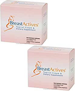 BREAST ACTIVES COMBO (2 KITS) NATURAL FEMALE ENHANCEMENT BREAST PILL CREAM