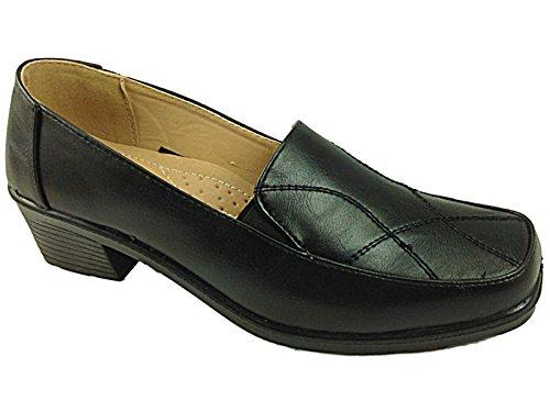 Dr Lightfoot , Sandales Compensées femme - noir - 8204: Black PU, 40 EU