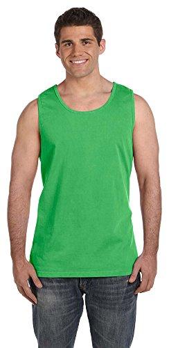 (Comfort Colors Ringspun Garment-Dyed Tank, XL, NEON GREEN )