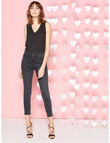 Neri Borchie Nero italian Jeans Con Motivi Size Skinny qIEf41Tw